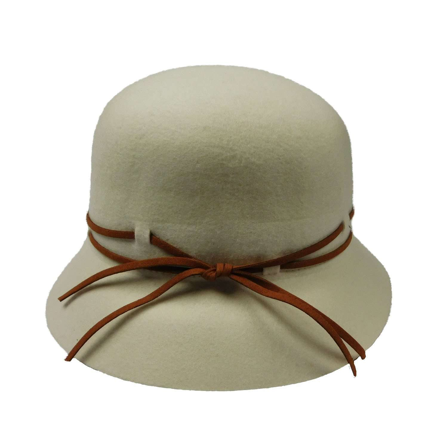 Wool Felt Cloche with Double Tie - SetarTrading Hats