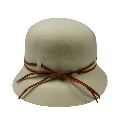 Wool Felt Cloche with Double Tie