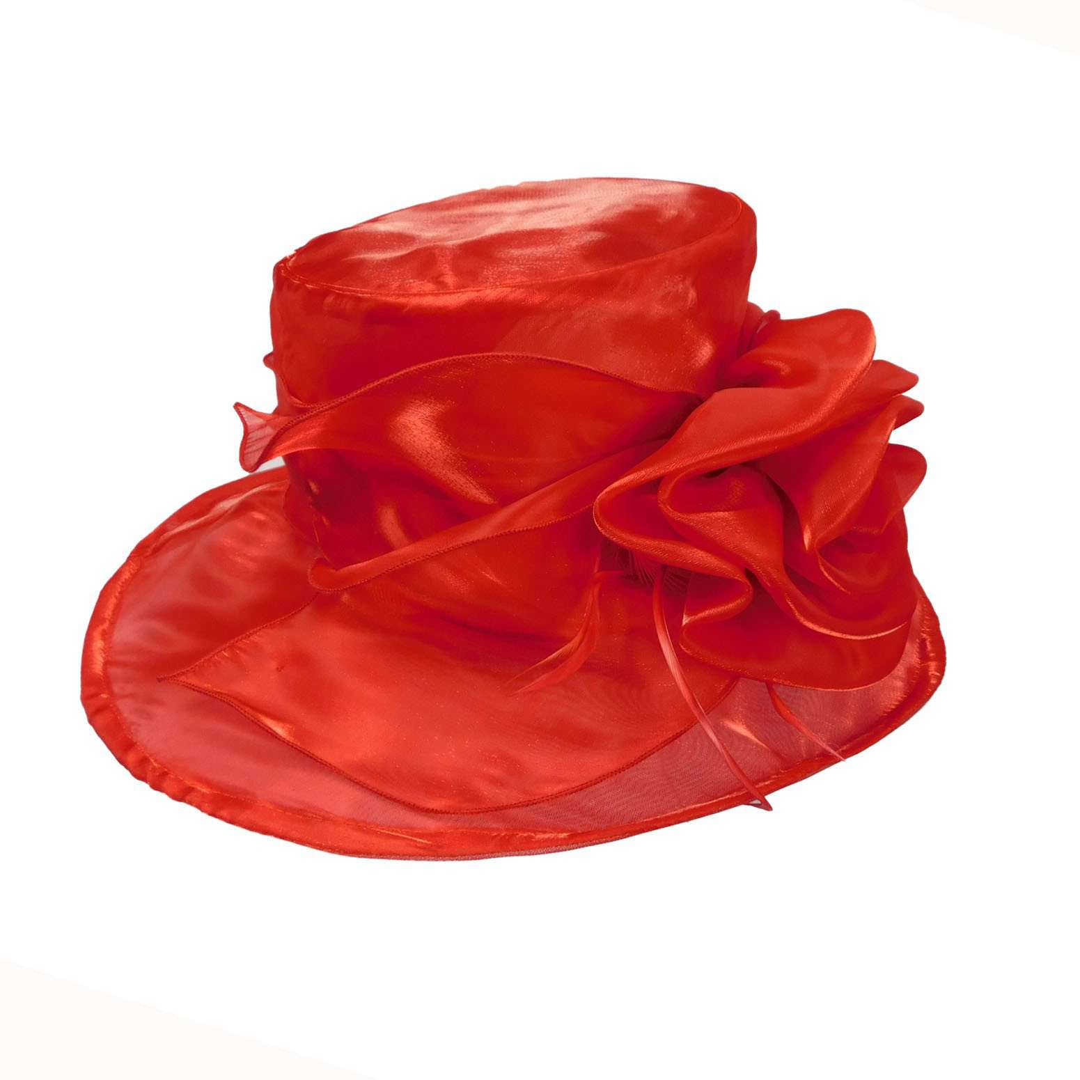 Organza Hat with Rose - SetarTrading Hats