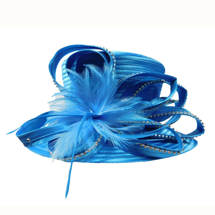 Satin Ribbon Hat with Loopy Ribbon Accent - SetarTrading Hats