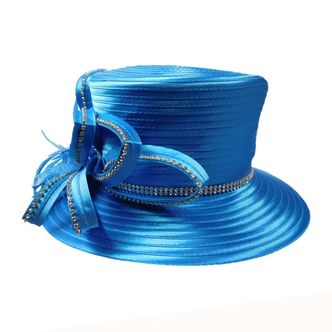 Satin Ribbon Hat with Loopy Ribbon Accent