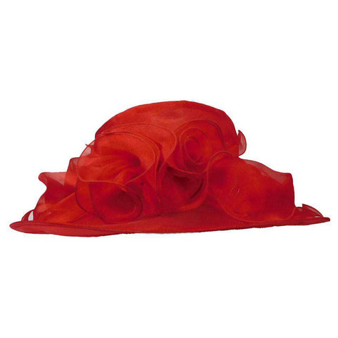 Organza Hat with Ruffle Bow