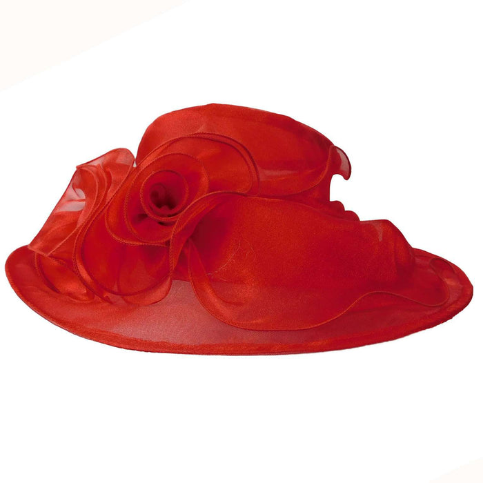 Organza Hat with Ruffle Bow - SetarTrading Hats