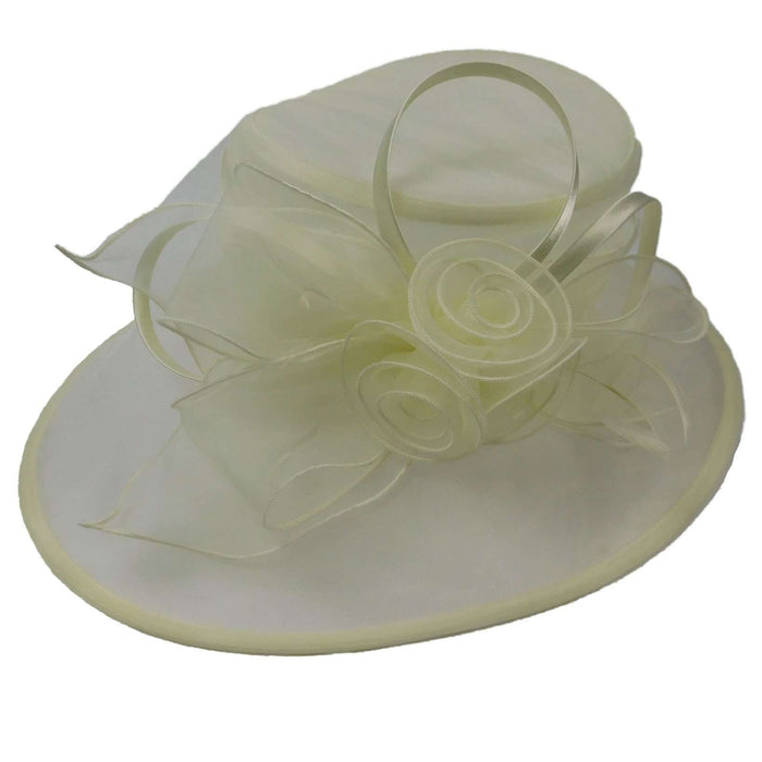 Organza Hat with Three Roses - SetarTrading Hats