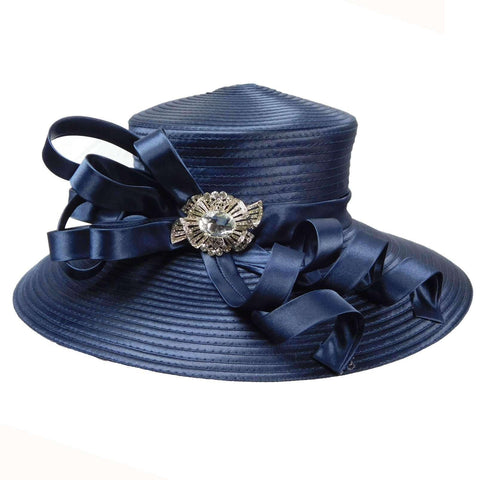 Large Brim Satin Braid Hat