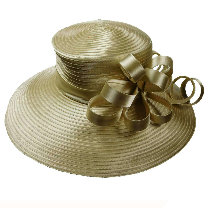 Large Brim Satin Braid Hat - SetarTrading Hats