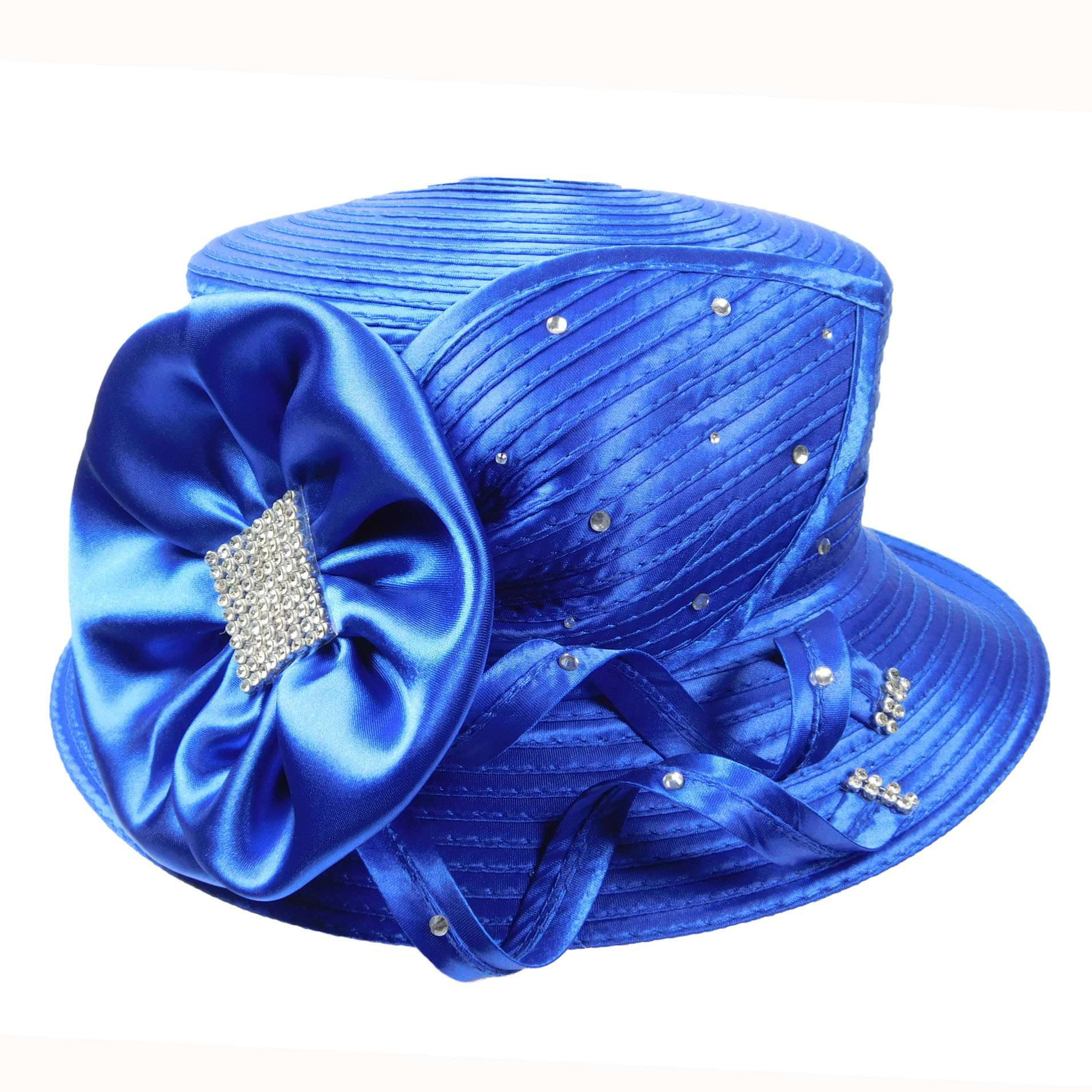 Satin Braid Hat with Rhinestones - SetarTrading Hats