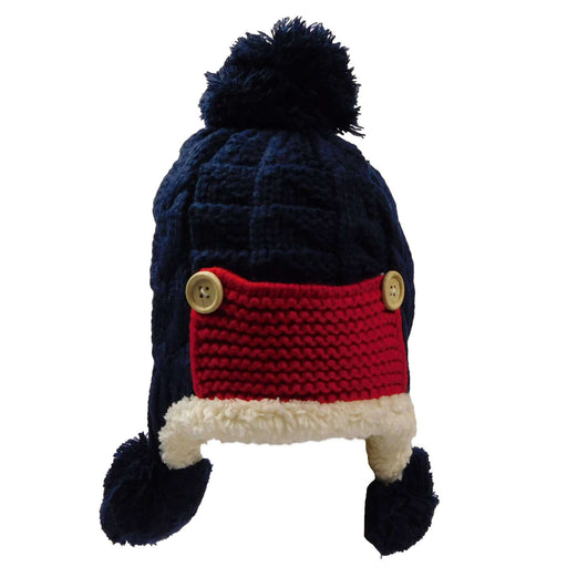 Knit Trapper Hat with Pom Poms - SetarTrading Hats