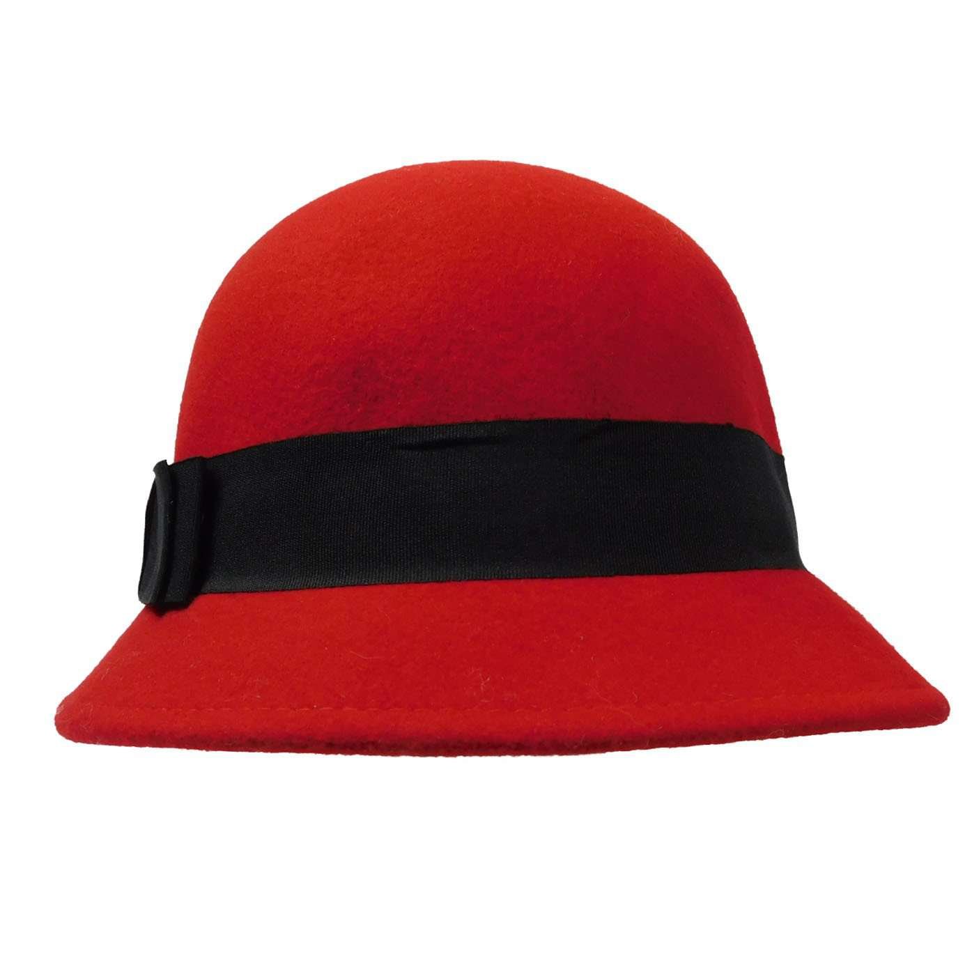 Asymmetrical Cloche with Black Band - SetarTrading Hats