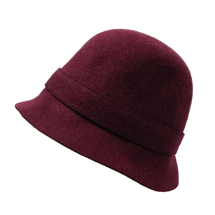 Wool Felt Bucket Hat with Button Accent - SetarTrading Hats