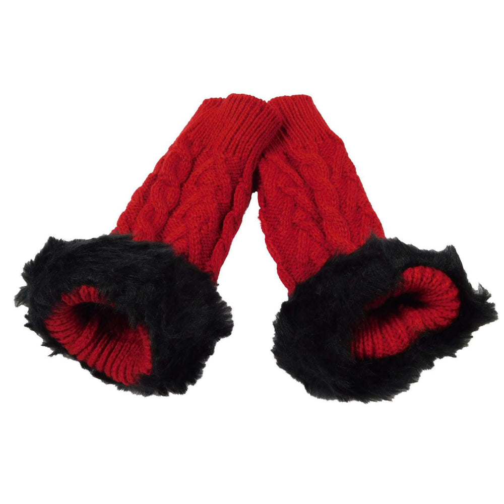 Arm Warmer with Fur Trim - SetarTrading Hats