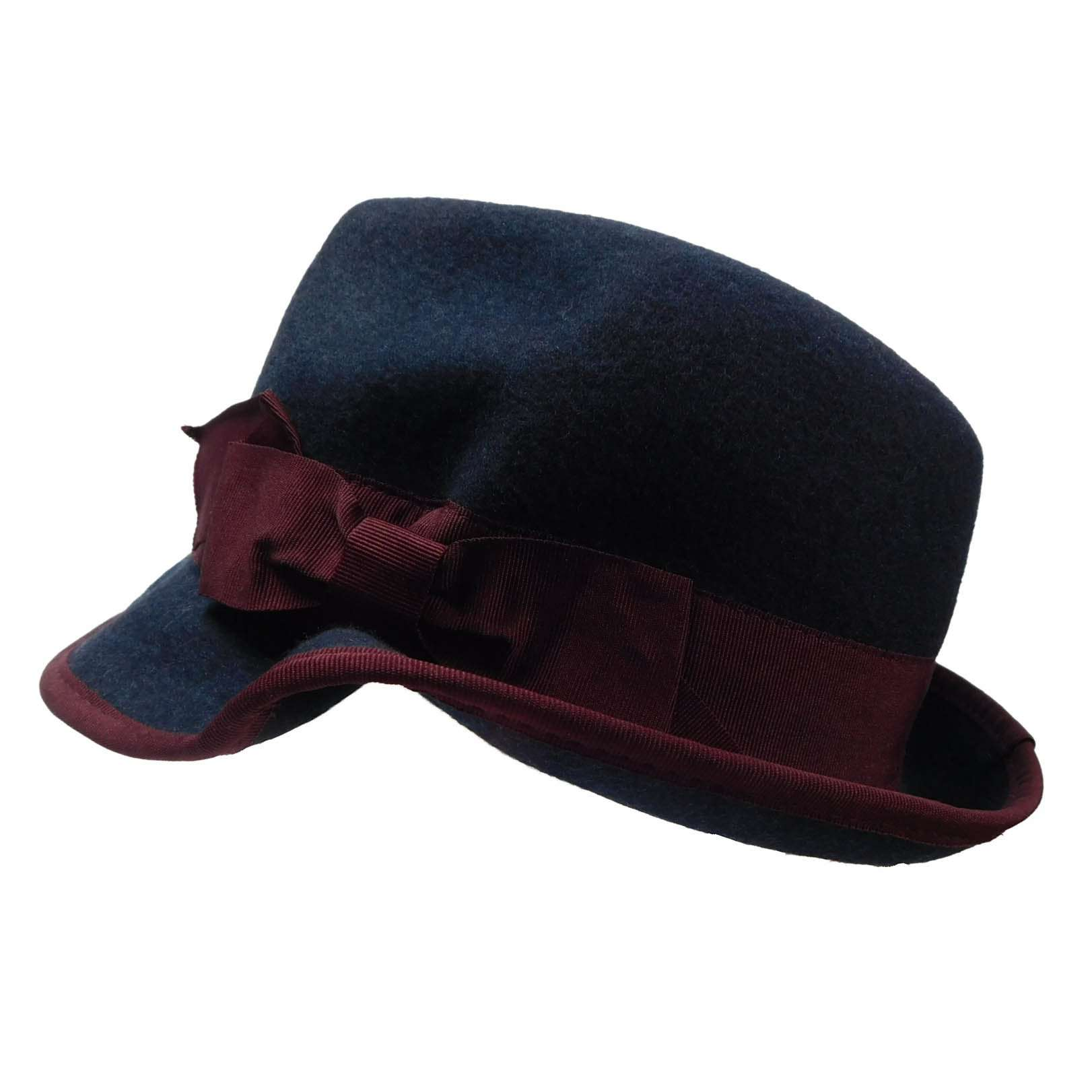 Bent Brim Two Tone Fedora - SetarTrading Hats