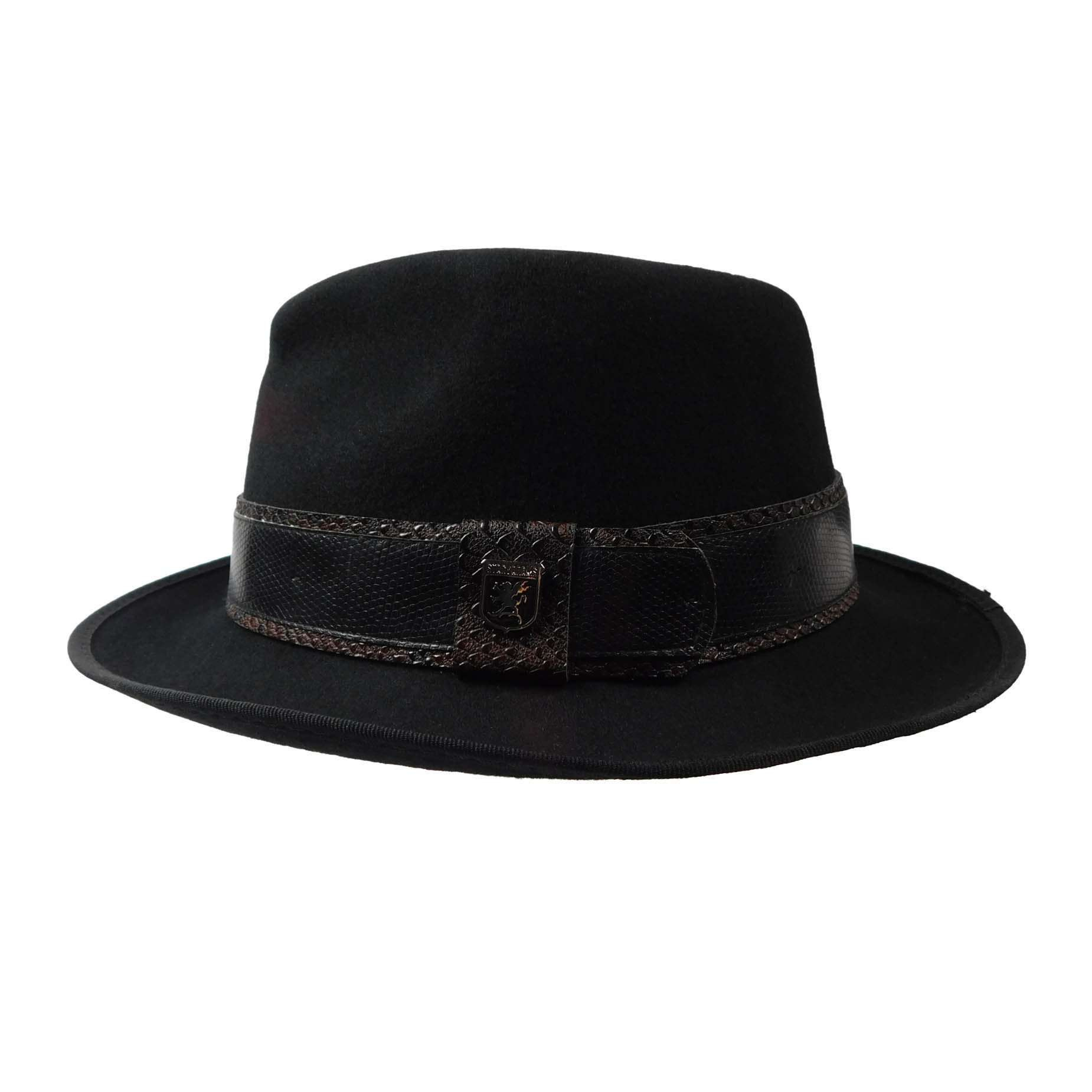 Stacy Adams Teardrop Fedora - Black  d32942e14aa