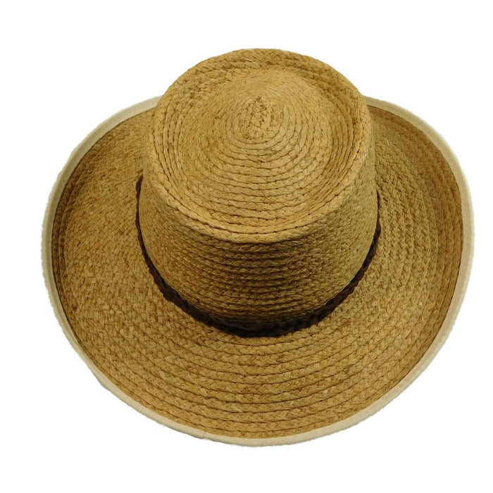 Raffia Gambler with Bound Brim - SetarTrading Hats