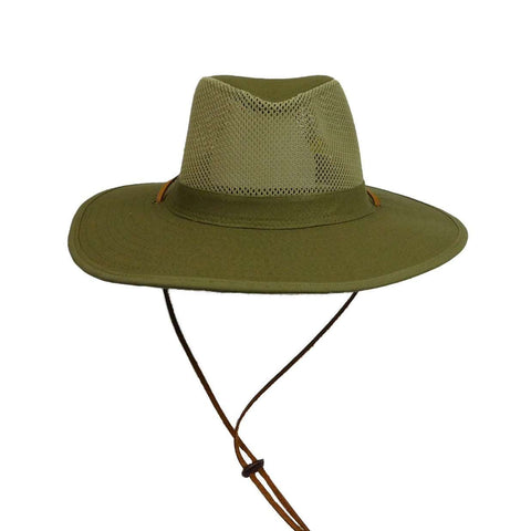Mesh Top Safari Hat -Olive