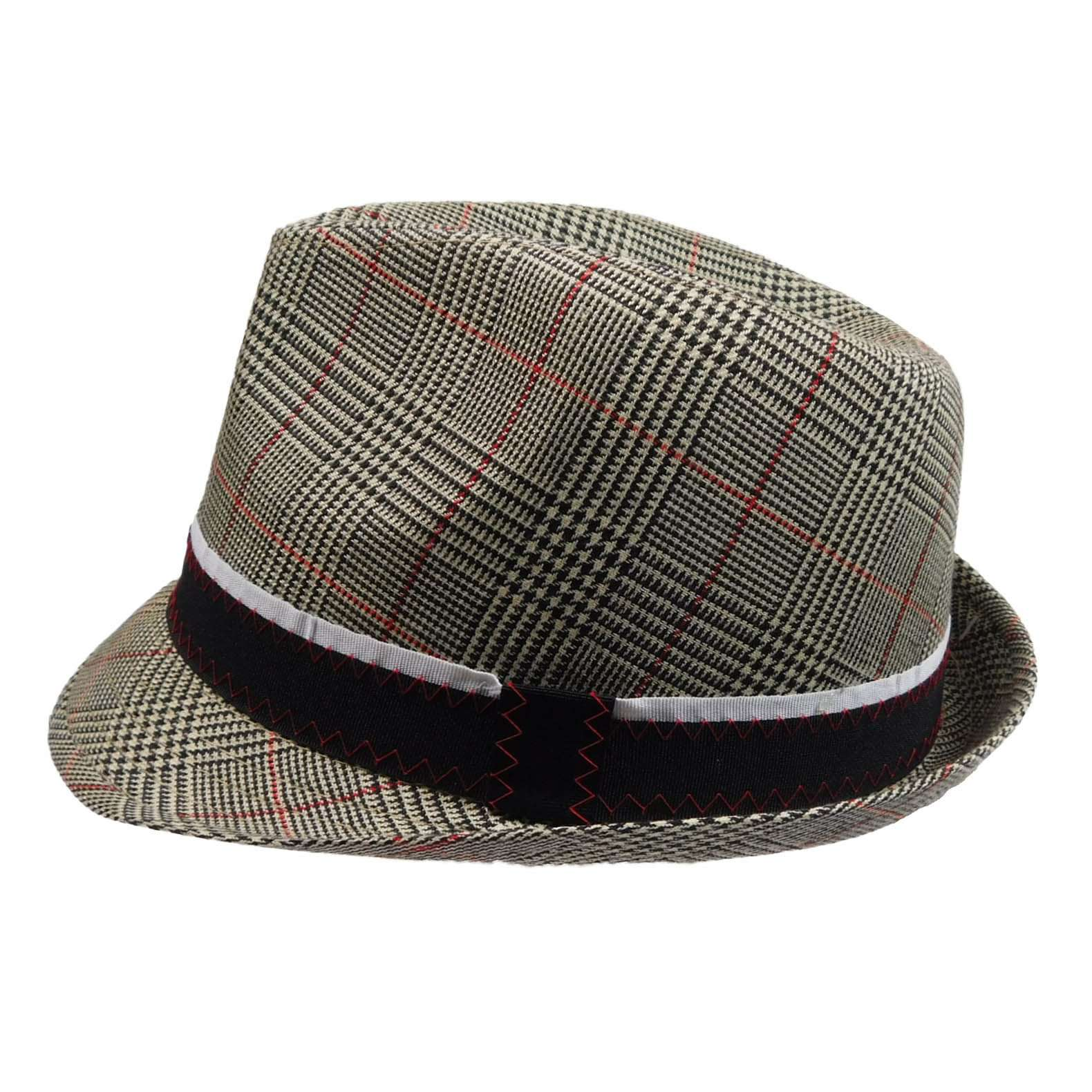Plaid Fedora with Black Band - SetarTrading Hats