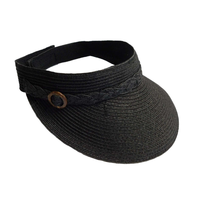 Straw Visor with Buckle Accent - SetarTrading Hats