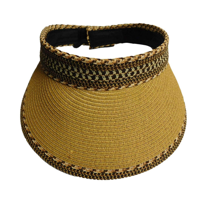 Wide Brim Tribal Pattern Roll-up Sun Visor - SetarTrading Hats