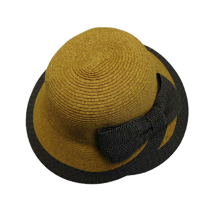 Overlapping Brim and Bow Sun Hat - SetarTrading Hats