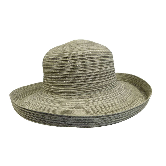 Metallic Blend Kettle Brim Sun Hat - SetarTrading Hats