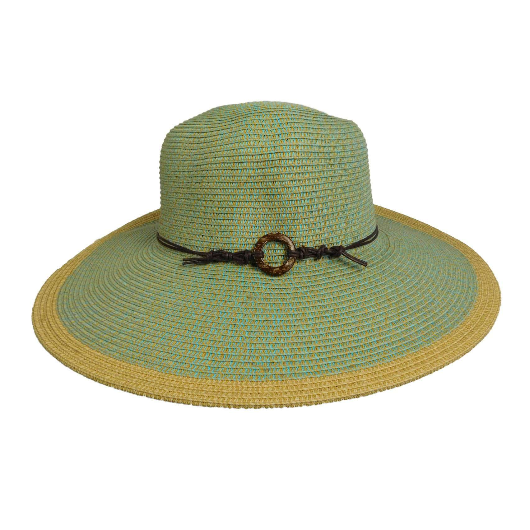 Flat Brim Sun Hat with Contrast Edge - SetarTrading Hats