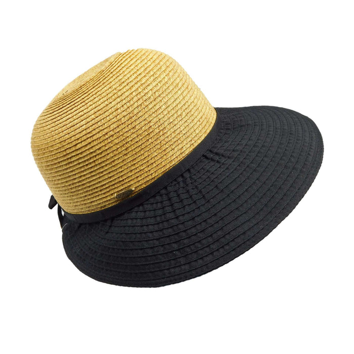 7e9e5a5f Scala Collezion Ribbon and Straw Facesaver - SetarTrading Hats