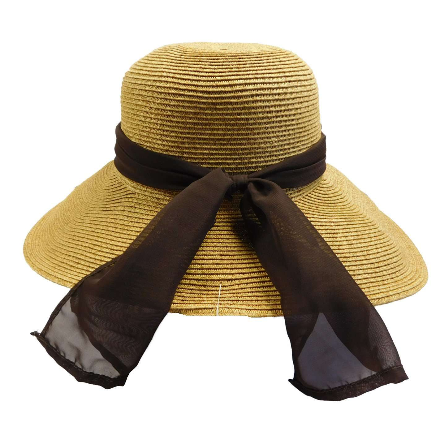 Asymmetrical Sun Hat with Scarf - SetarTrading Hats