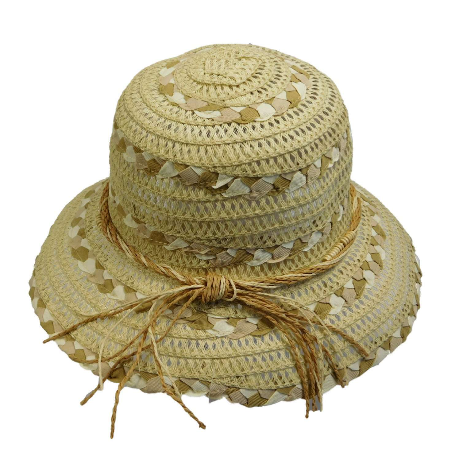 Braided Ribbon and Crocheted Straw - SetarTrading Hats