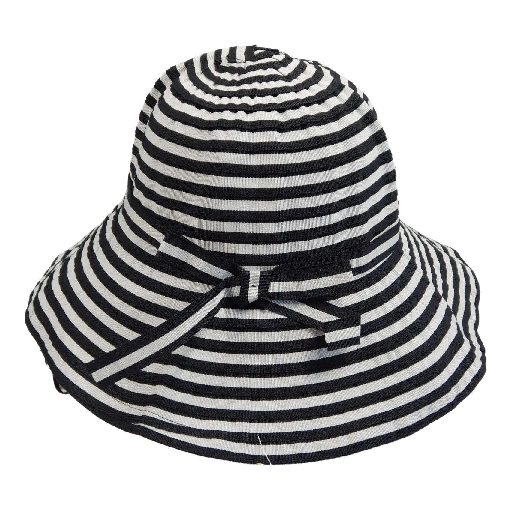 Striped Ribbon Sun Hat - SetarTrading Hats