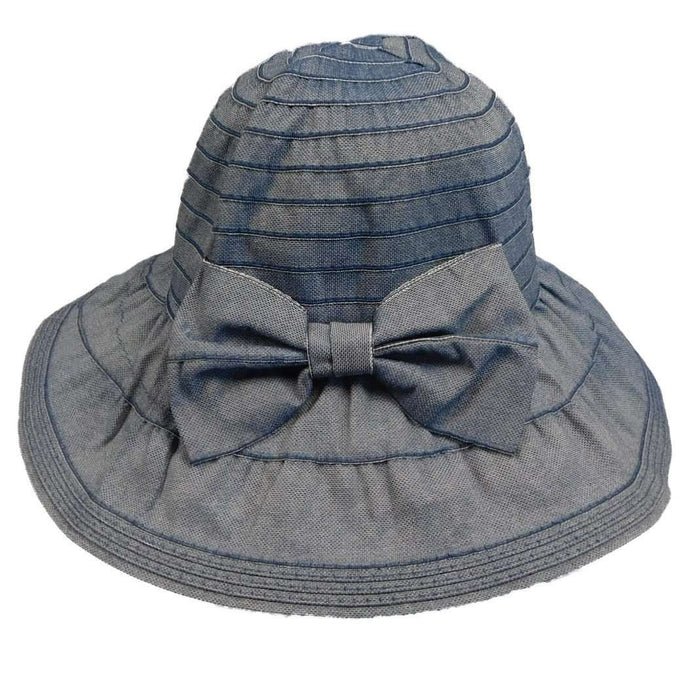 Pulled Ribbon Sun Hat with Bow by JSA for Women - SetarTrading Hats