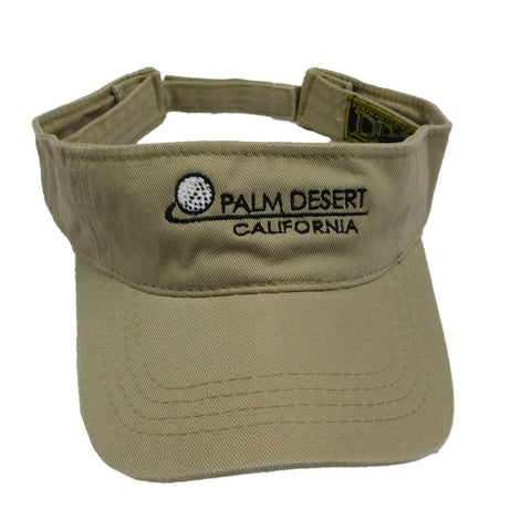 DPC Men's Sun Visor with PALM DESRT embroidery