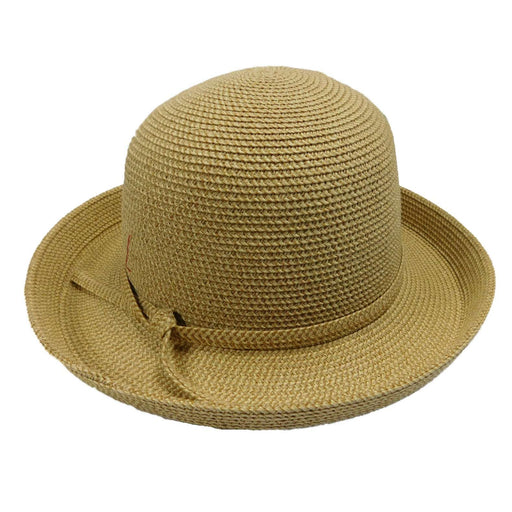Small Kettle Brim Tweed Summer Hat - SetarTrading Hats