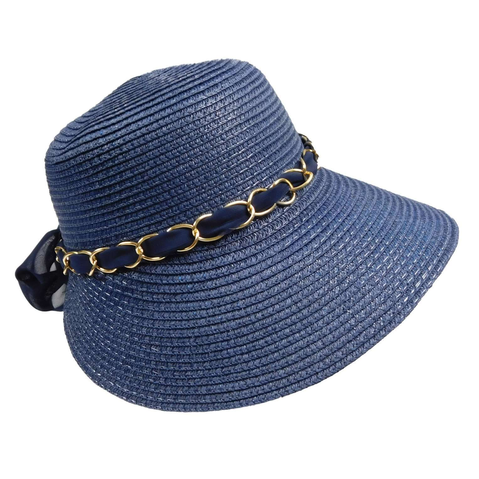 Summer Cloche with Chain Link and Scarf - SetarTrading Hats