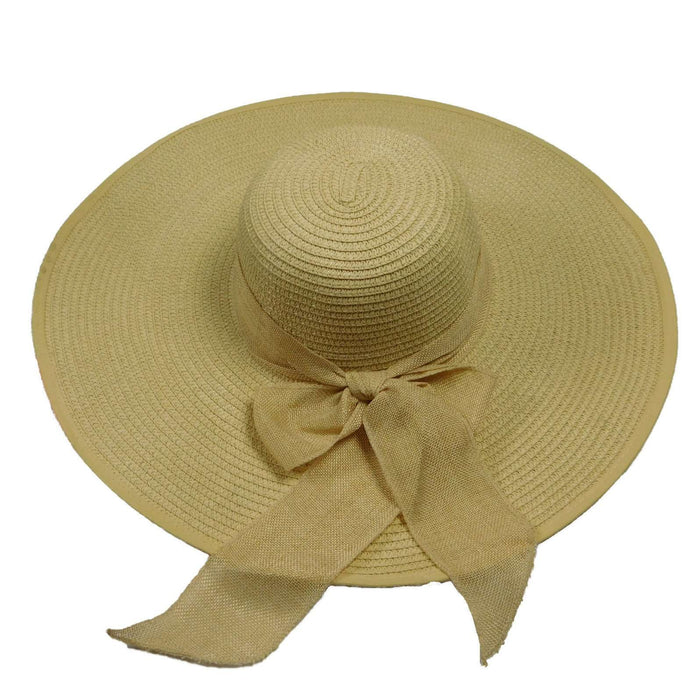Large Brim Sun Hat with Scarf - SetarTrading Hats