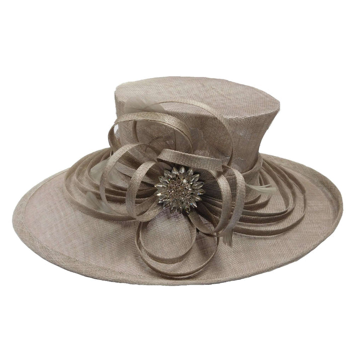 Large Oval Brim Sinamay Hat - SetarTrading Hats
