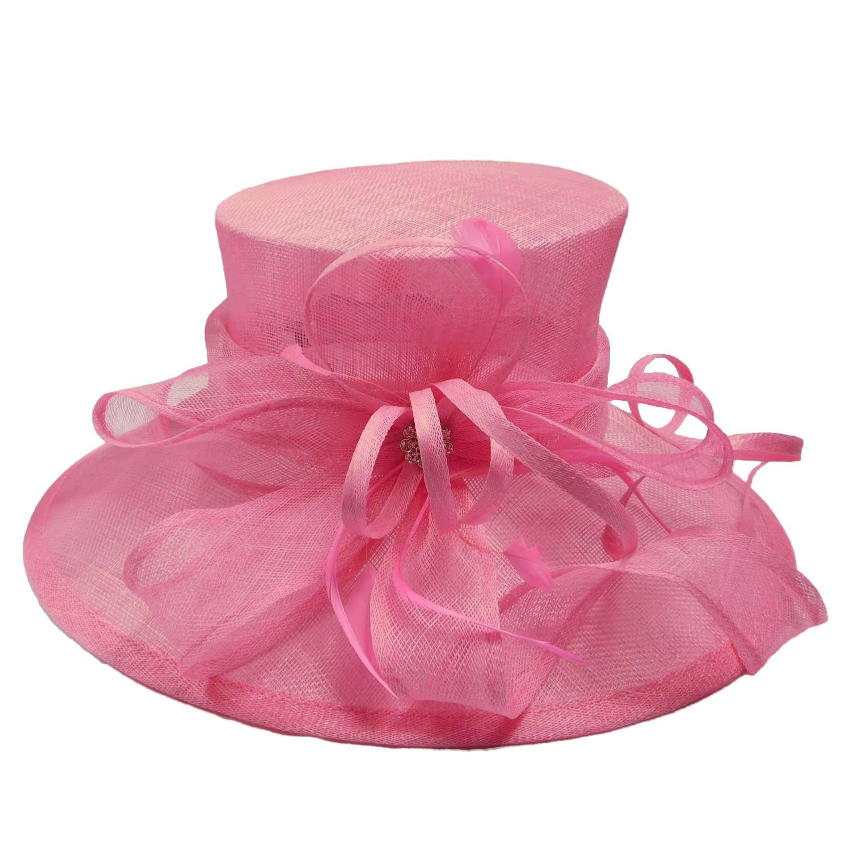 Large Sinamay Hat with Bow - SetarTrading Hats