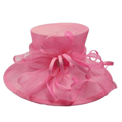 Large Sinamay Hat with Bow