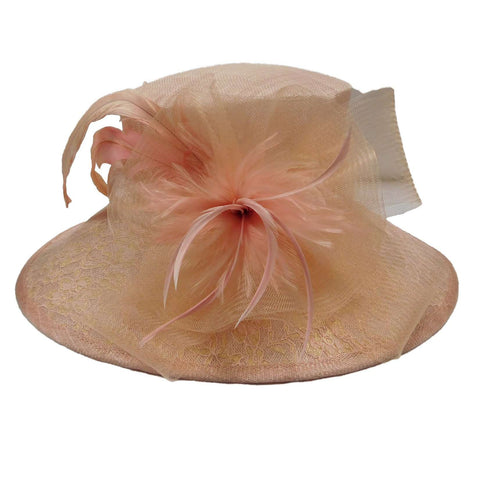 Sinamay Hat with Lace Brim