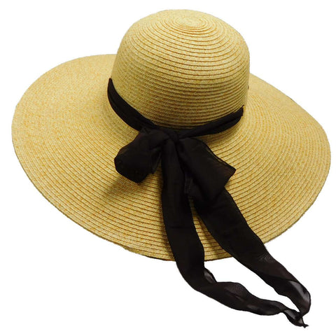 Summer Floppy Hat with Chiffon Bow