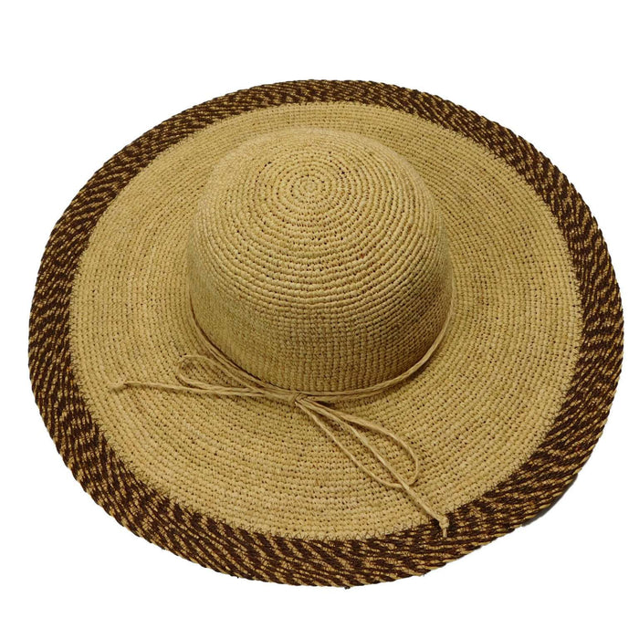 Two Tone Raffia Beach Hat - SetarTrading Hats