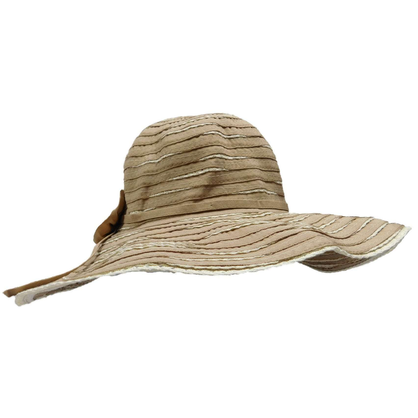Spiral Sewn Ribbon and Straw Sun Hat by JSA for Women - SetarTrading Hats
