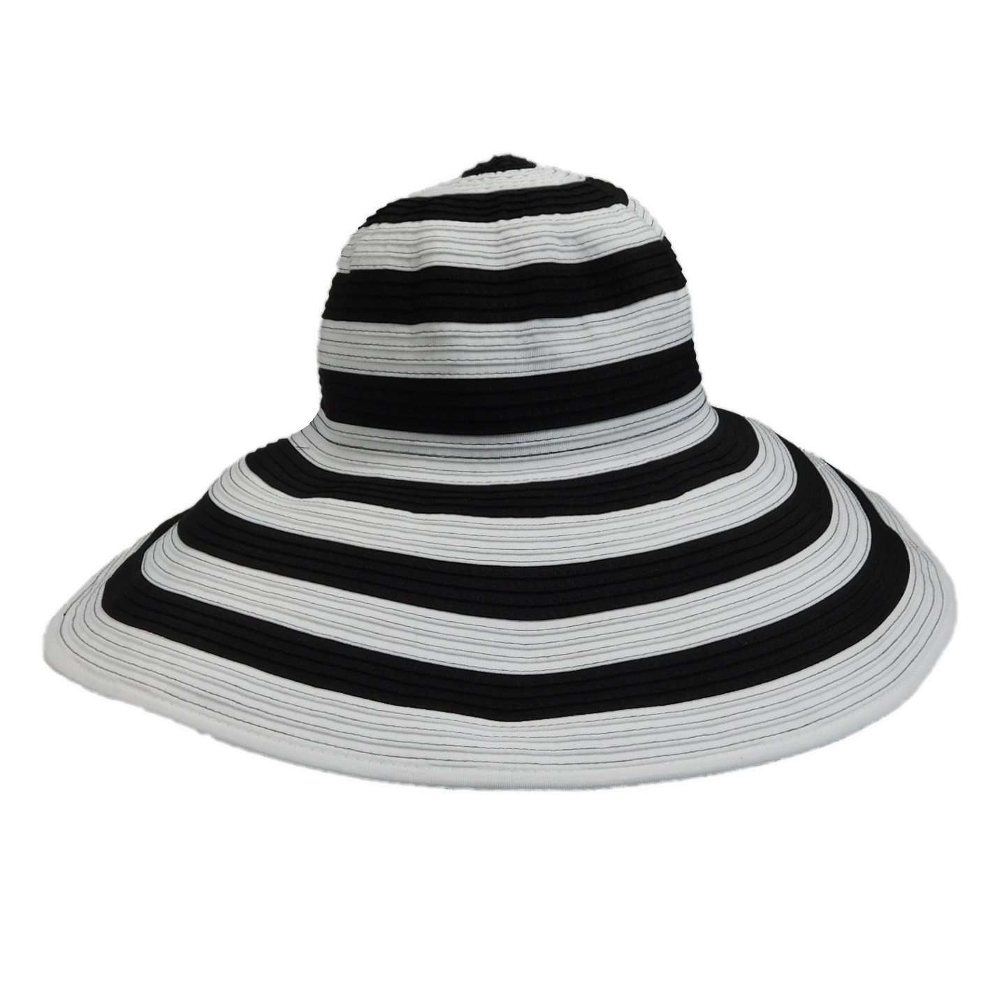 Scala Large Brim Black and White Hat - SetarTrading Hats