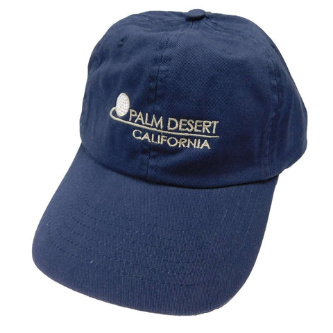 DPC Unstructured Twill Cap with PALM DESERT