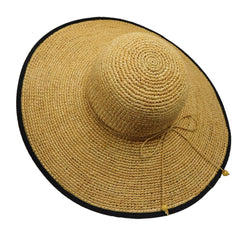 Fine Raffia Sun Hat with Twisted Tie - SetarTrading Hats