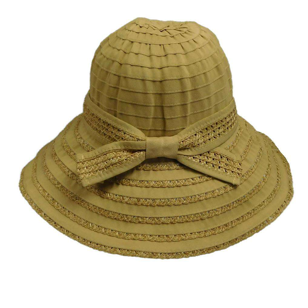 Ribbon and Straw Big Brim Hat - SetarTrading Hats