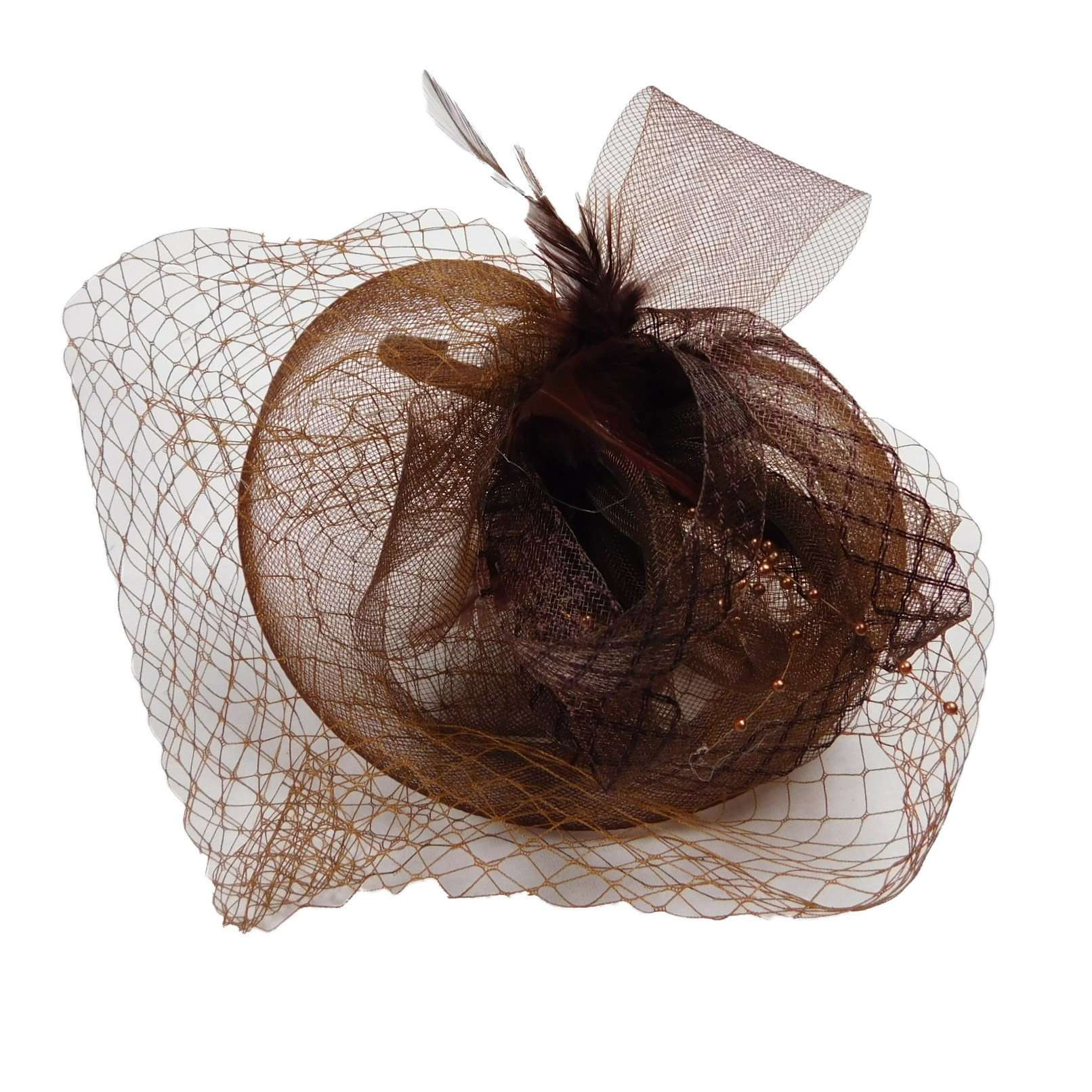 Fascinator with Netting Veil - SetarTrading Hats