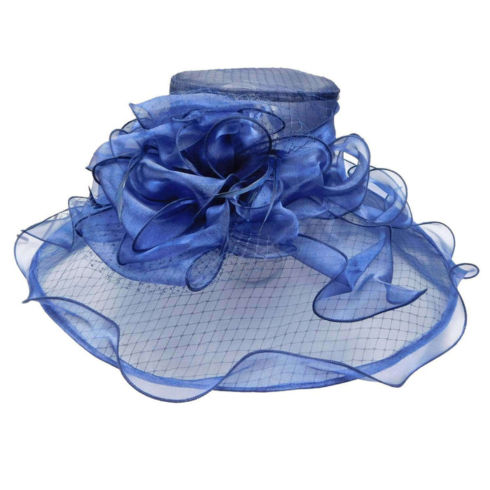 Organza Hat with Netting Overlay - SetarTrading Hats