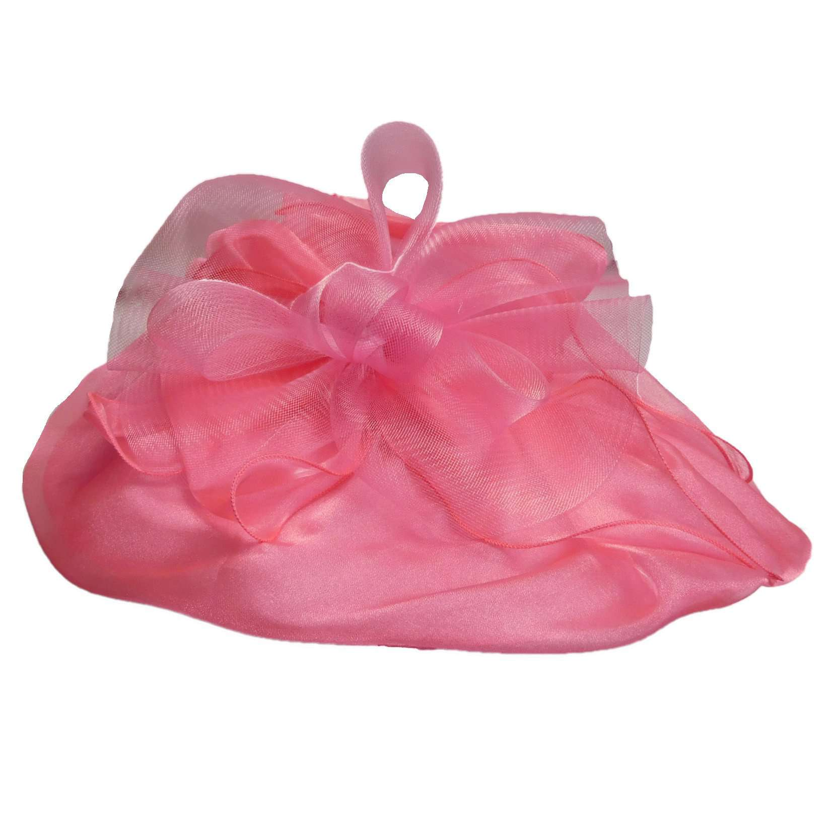 Pleated Organza Hat with Mesh Accent - SetarTrading Hats