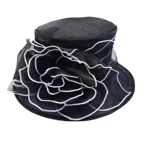 Organza Hat with Contrast Trim