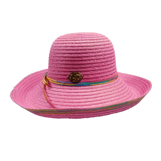 Panama Jack Kettle Brim Hat with Multicolor Trim - SetarTrading Hats